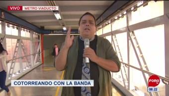 #CotorreandoconlaBanda: 'El Repor' suelto en metro Viaducto