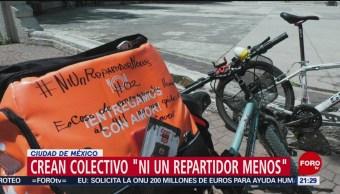 Foto: Colectivo Ni Un Repartidor Menos Aplicaciones 14 Agosto 2019