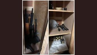 Foto FGR asegura armas y cartuchos en Sinaloa, Jalisco y CDMX 16 agosto 2019