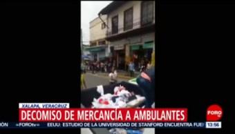 Foto: Video Trifulca Inspectores Vendedores Ambulantes Xalapa 22 Agosto 2019