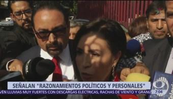 Defensa de Rosario Robles denuncian que prisión preventiva es indebida