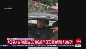 Denuncian a policía del Edomex por 'sembrar' marihuana a joven para extorsionarlo