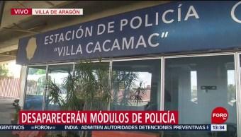 FOTO: Desaparecerán módulos Policías CDMX