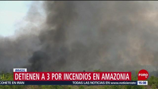 FOTO: Detienen a 3 por incendios en Amazonia de Brasil, 31 Agosto 2019