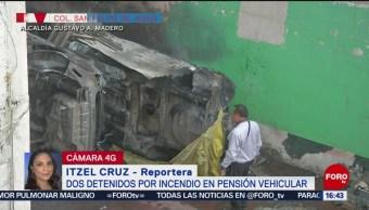 Foto: Detienen Dos Personas Incendio Pensión Autos Gam 23 Agosto 2019