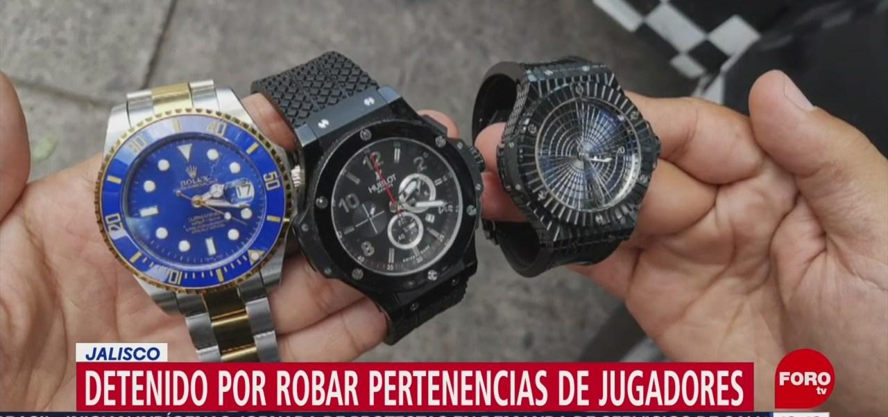 FOTO: Detienen Hombre Por Robar Pertenencias Jugadores Jalisco,