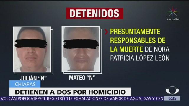 Detienen en Chiapas a dos personas por homicidio de bióloga