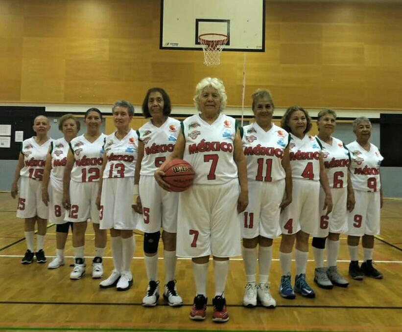 Foto: Equipo de basquetbol femenil +65. 5 agosto 2019