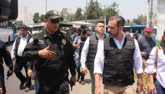Foto: Jesús Orta, secretario de Seguridad Ciudadana de CDMX (der), dijo que operativos se mantendrán el tiempo que sea necesario, el 3 de agosto de 2019 (SSC)