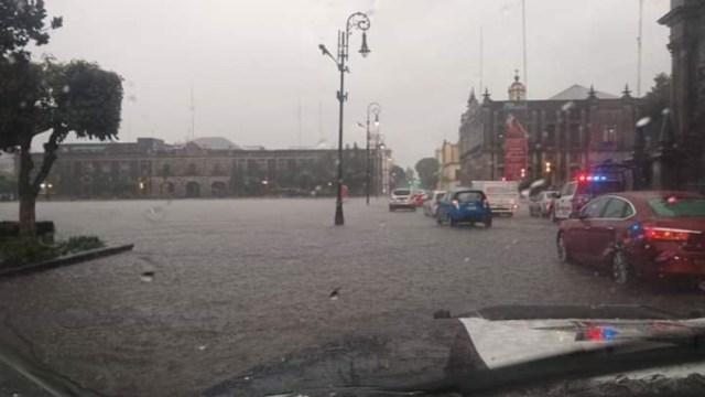 Foto Algunas imágenes difundidas en redes sociales muestran la intensidad de la lluvia, 22 de agosto de 2019 (Twitter @ordenapolitico)
