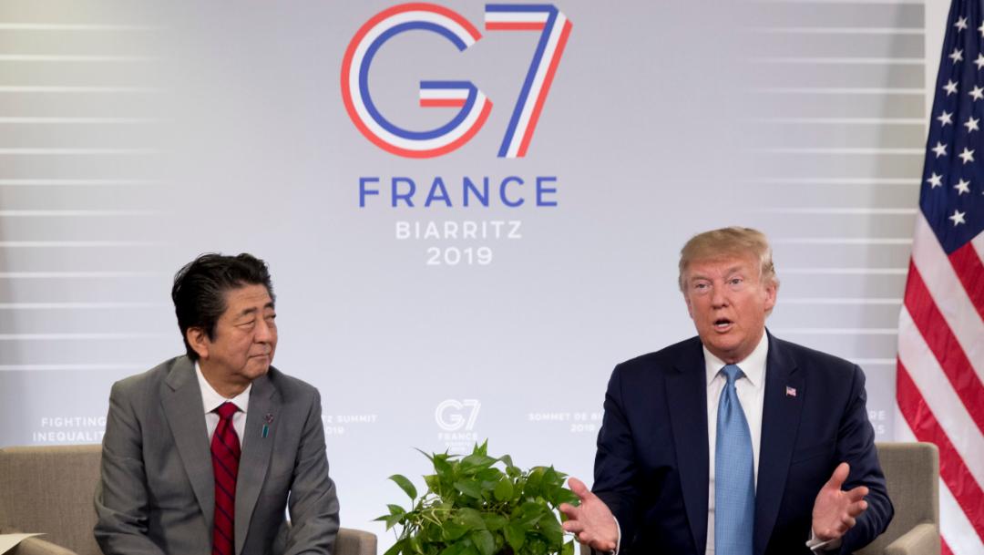 Foto: El líder japonés dijo que había trabajo por delante, pero expresó optimismo, 25 de agosto de 2019 (AP)