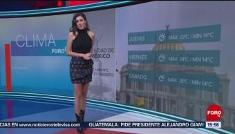 FOTO: Clima Con Daniela Álvarez 21 Agosto 2019