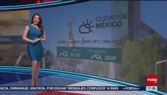 Foto: clima Mayte Carranco 8 agosto 2019,
