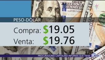 El dólar se vende en $19.76