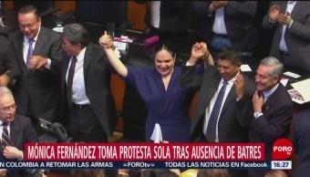 FOTO: Eligen a Mónica Fernández como presidenta del Senado, 31 Agosto 2019