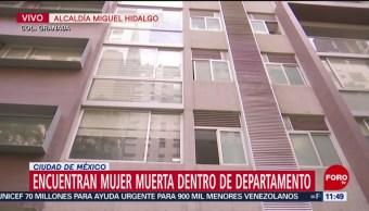 Encuentran muerta a mujer dentro de departamento en CDMX