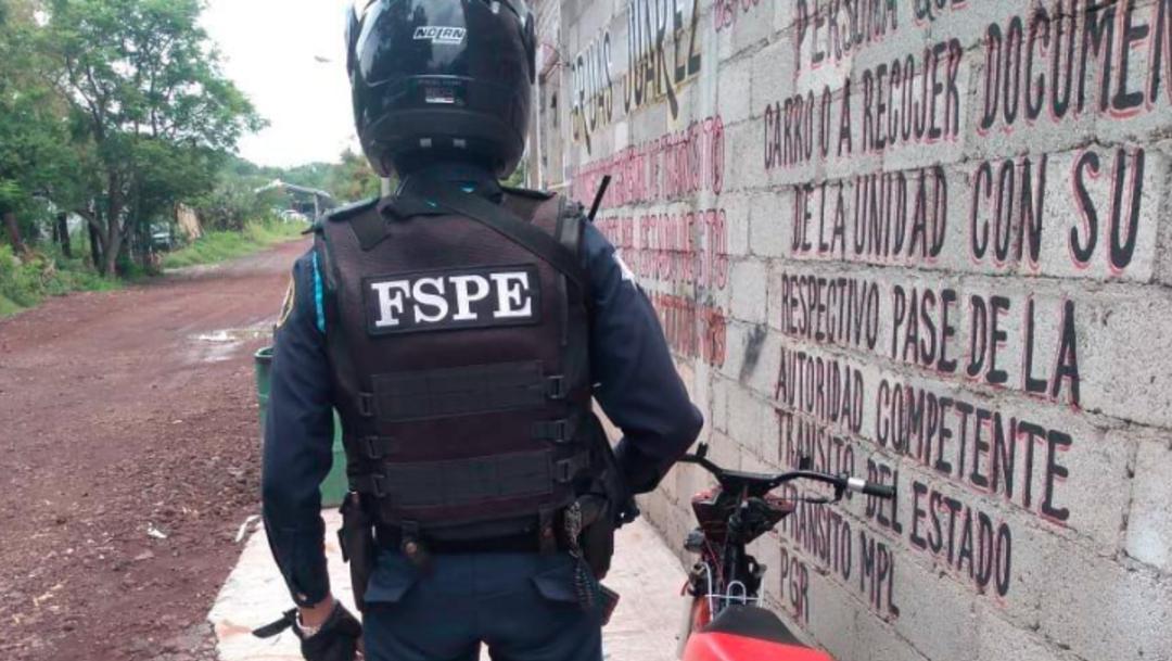 Imagen: Un elemento de la Guardia Nacional que resultó herido, 11 de agosto de 2019 (Twitter @FSPE_Gto)