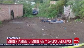 FOTO: Enfrentamiento entre Guardia Nacional y grupo delictivo en Guanajuato, 10 Agosto 2019