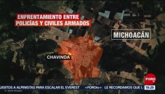 Foto: Enfrentamiento Policías Hombres Armados Michoacán 14 Agosto 2019