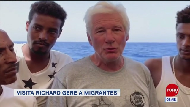 #EspectáculosenExpreso: Visita Richard Gere a migrantes