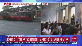 FOTO: Estación del Metrobús Insurgentes opera con normalidad, 17 Agosto 2019