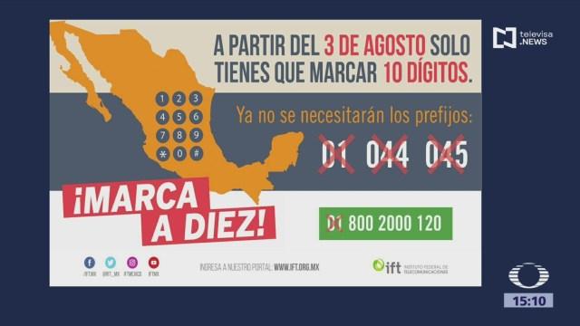 Foto: Nueva Marcación Telefónica En México