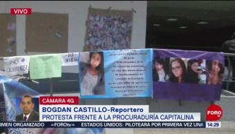 Foto: Estudiantes Protestan Procuraduría CDMX