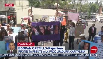 Estudiantes se unen a protesta frente a PGJCDMX