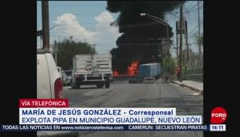 FOTO: Explota Pipa Gas Municipio Guadalupe