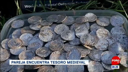 Extra, Extra: Pareja encuentra tesoro medieval