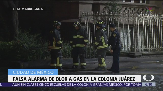 Falsa alarma de olor a gas en la colonia Juárez, CDMX