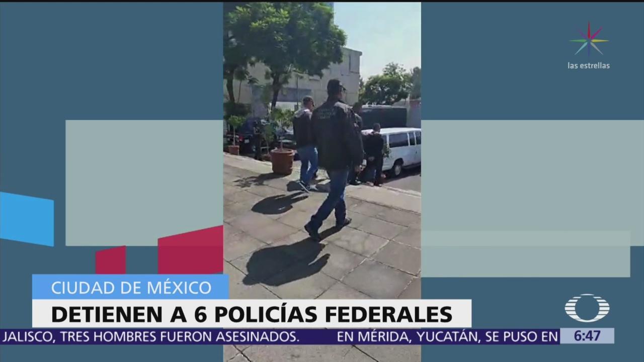 FGR detiene a seis policías en la Ciudad de México