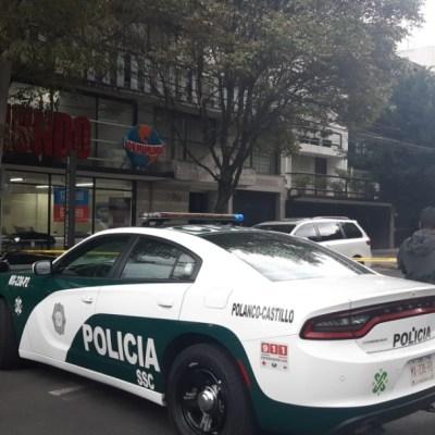 Asesinan a presunto asaltante vestido de repartidor de comida en Polanco