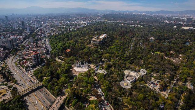 Foto: Fotografía panorámica del Bosque de Chapultepec en la Ciudad de México. Gobierno CDMX