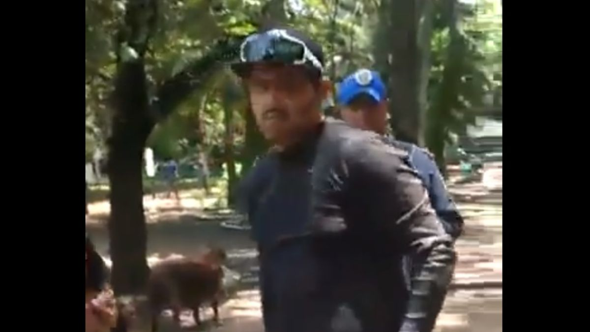 Foto: El supuesto agresor fue identificado como Diego García Cirilo. Captura de pantalla