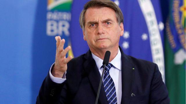 FOTO: Jair Bolsonaro, presidente de Brasil, el 04 de enero de 2020