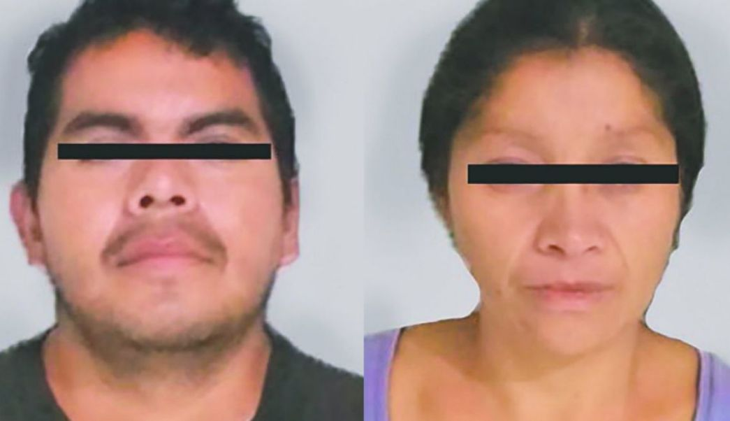 """Foto: Juan """"N"""" y Patricia """"N"""", conocidos como los """"monstruos de Ecatepec"""", 7 de agosto de 2019 (FGJEM)"""