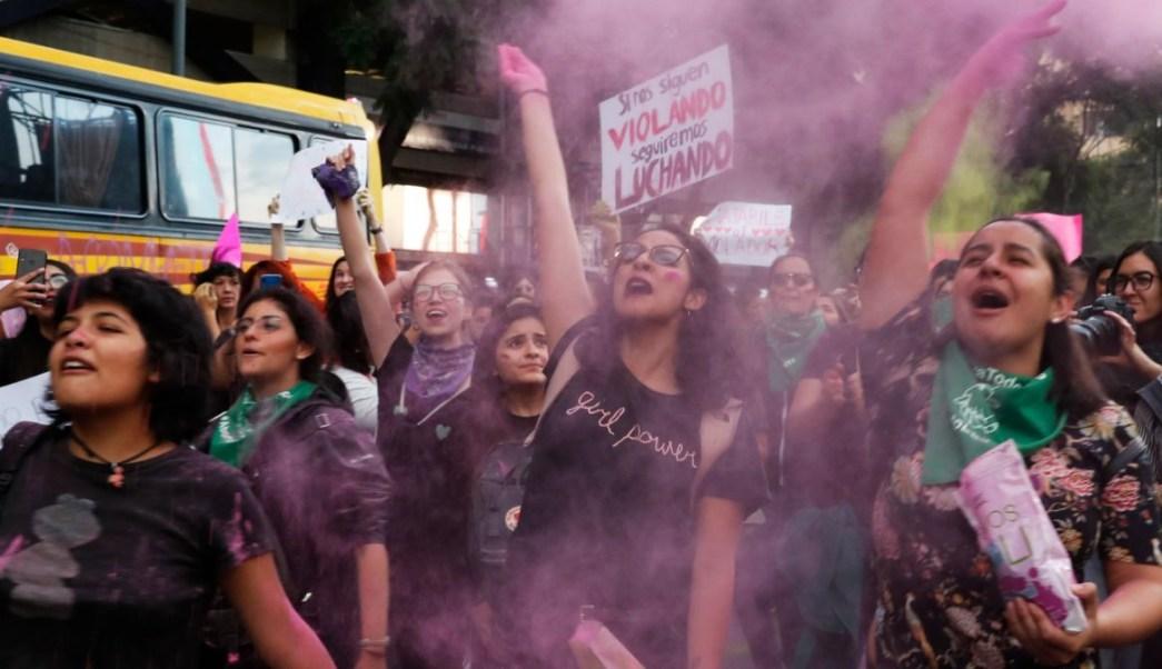 Foto: Miles de mujeres protestaron en la Ciudad de México contra la violencia género. El 16 de agosto de 2019. AP