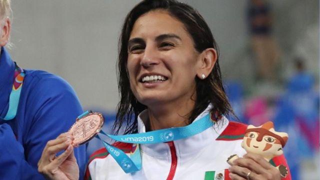 Foto: Paola Espinosa ganó la medalla de bronce en trampolín de un metro. El 2 de agosto de 2019. Reuters