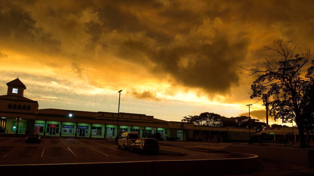 """Foto: Nubes de tormenta se juntan mientras """"Dorian"""" se mueve hacia San Miguel, en Barbados. AP"""