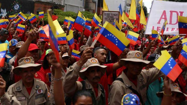 Foto: Cientos de chavistas participan en una manifestación en las calles de Caracas, Venezuela. El 7 de agosto de 2019. Reuters