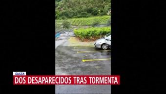 Fuerte tormenta se registra en Suiza, reportan dos desaparecidos