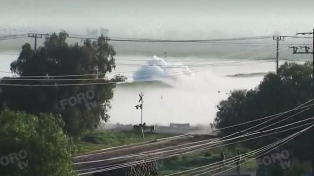 FOTO Fuga de gas natural provoca desalojo masivo en Edomex (FOROtv)
