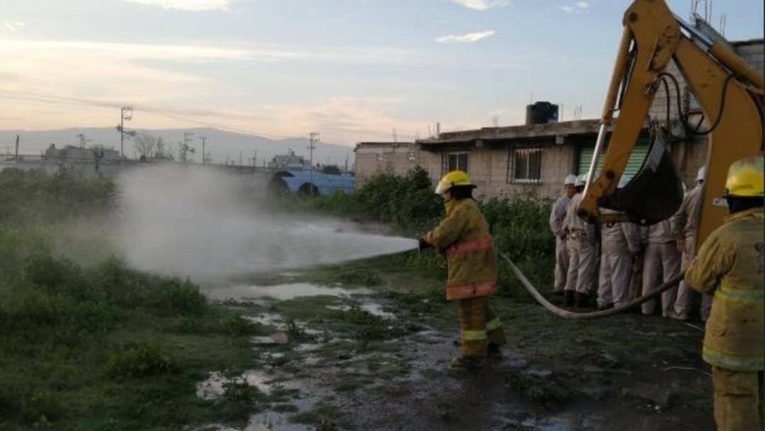 Foto: Derivado de una fuga de gas se mantiene un cerco de seguridad por personal de Pemex, 24 agosto 2019