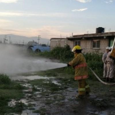Se registra fuga de gas LP en ejido Tequisistlán, Estado de México
