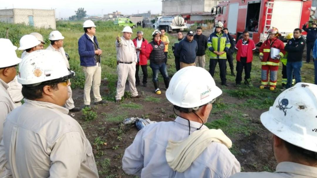 Foto: En el lugar laboran autoridades estatales y federales, el 24 de agosto de 2019 (Gobierno del Estado de México)