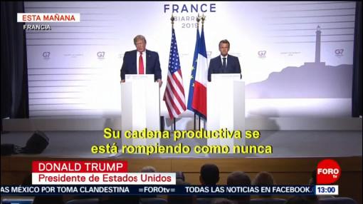 G7 termina cumbre de Francia sin acuerdos