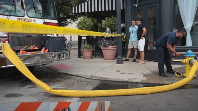 Foto: Los cuerpos de las víctimas fueron encontrados en la calle, 4 de agosto de 2019 (Getty Images)