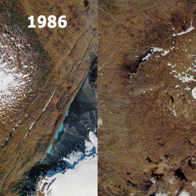 Imágenes de la NASA muestran desaparición de un glaciar en Islandia