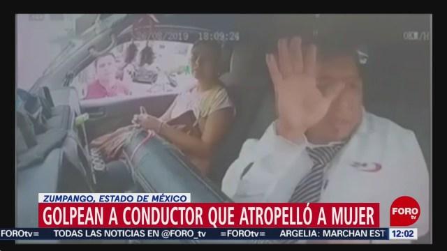 Golpean a conductor que atropelló a mujer en Zumpango, Edomex